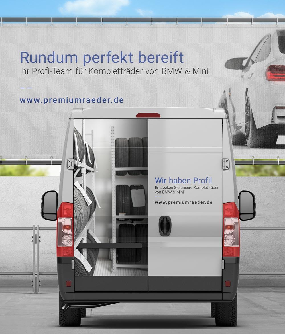 Fahrzeugbeschriftung + Werbeschilder